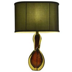 Murano Midcentury Glass Table Lamp by Flavio Polli