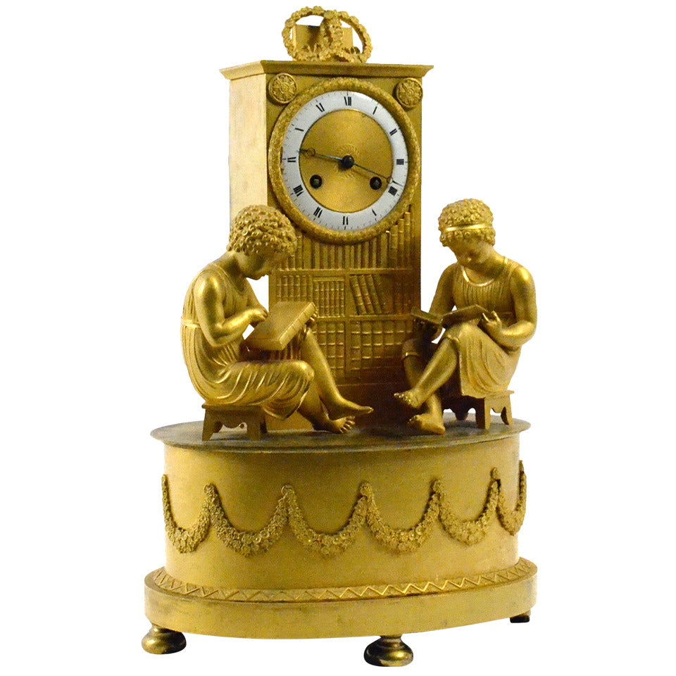 Ormolu Silk-Suspension Clock