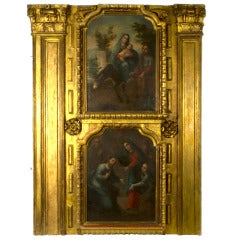 A Set of Large Spanish Colonial Panels Depicting the Life of Christ