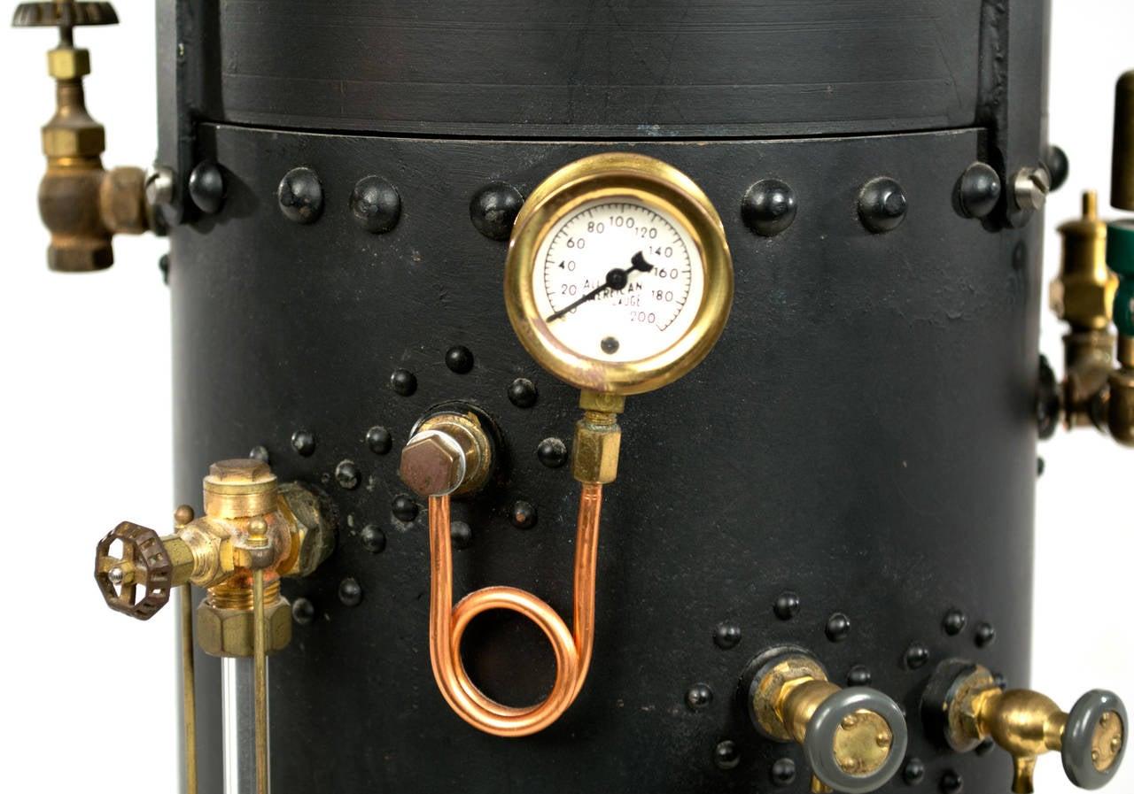Vertical Donkey Steam Boiler Model at 1stdibs