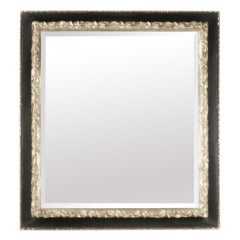 Silvered and Ebonized Bevelled Mirror
