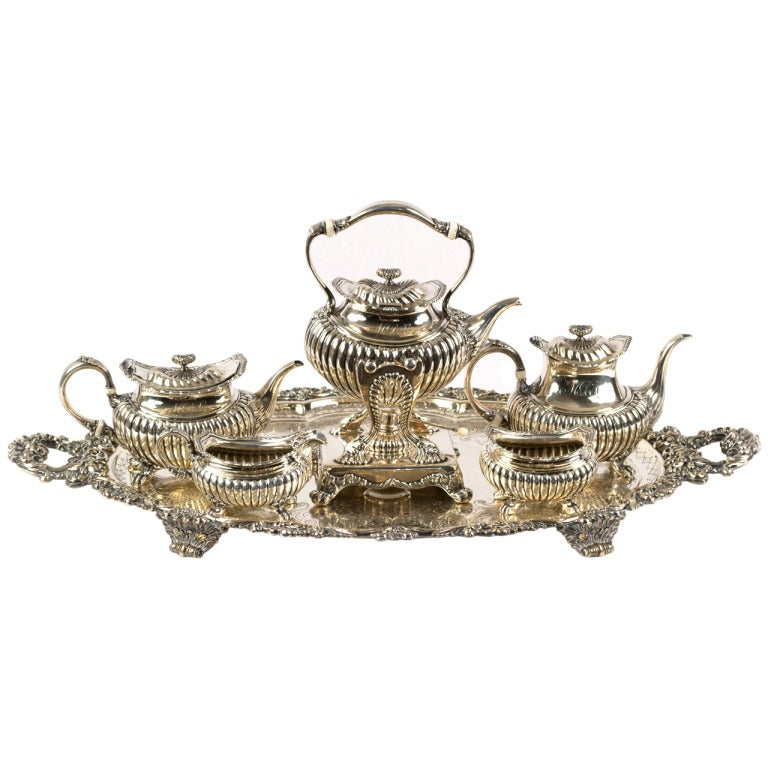 A Five-Piece Sterling Tea and Coffee Service by Gorham