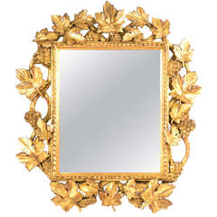 Italian Gilt And Bevelled Grapevine Mirror
