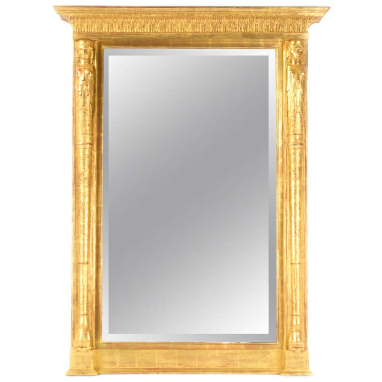 Large tabernacle framed mirror at 1stdibs for Tall framed mirror