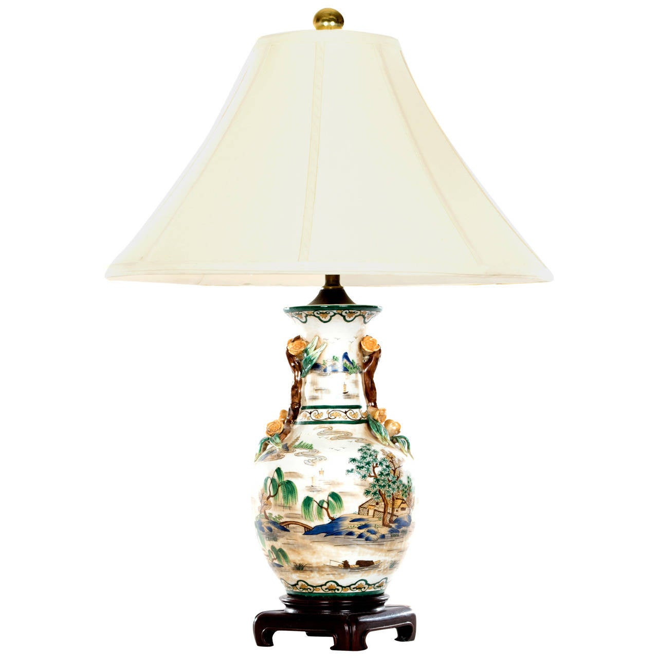 Chinese baluster vase as a lamp with molded appliqu handles at chinese baluster vase as a lamp with molded appliqu handles 1 reviewsmspy