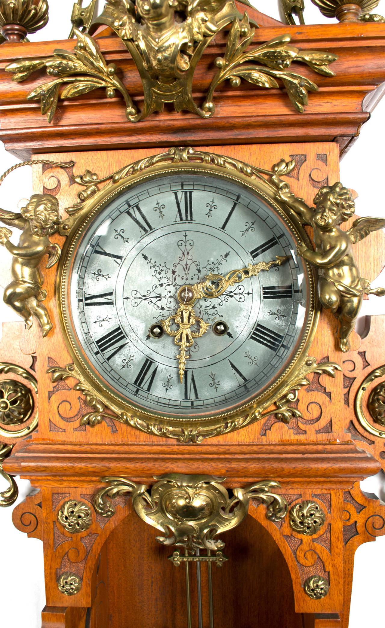 German Beaux Arts Style Wall Clock At 1stdibs