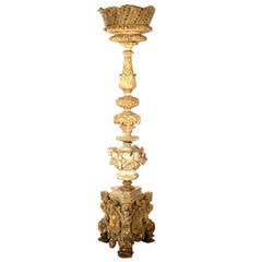 Monumental Italian Carved and Gilt Candelabra