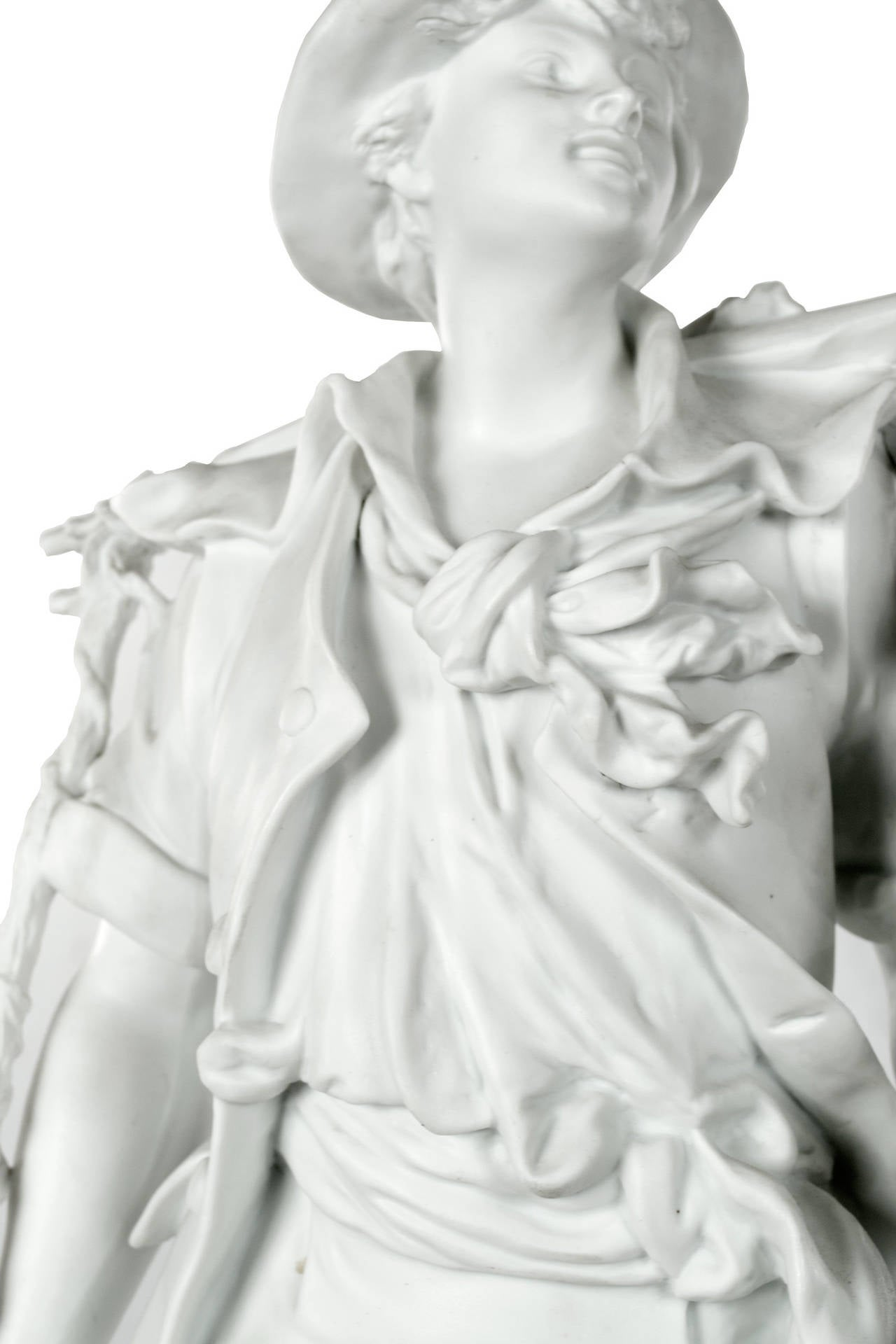 Other The Young Harvester Bisque Porcelain Statue by EB Quinter For Sale
