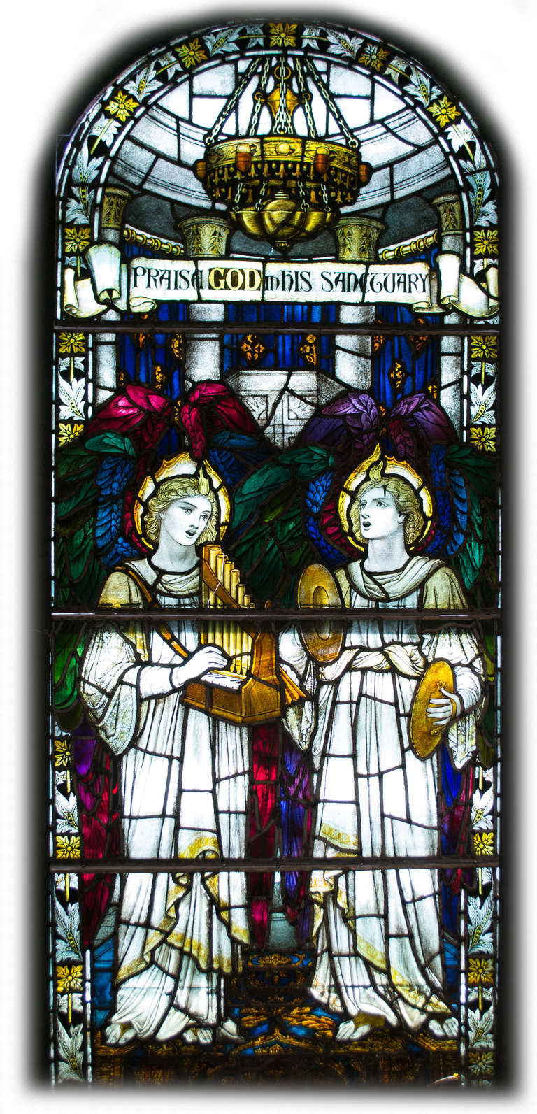 Pair Of Pre Raphaelite Stained Glass Windows At 1stdibs