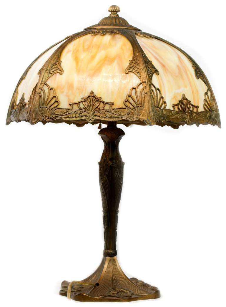 This american art nouveau table lamp is no longer available - American Art Nouveau Bronze Table Lamp 2