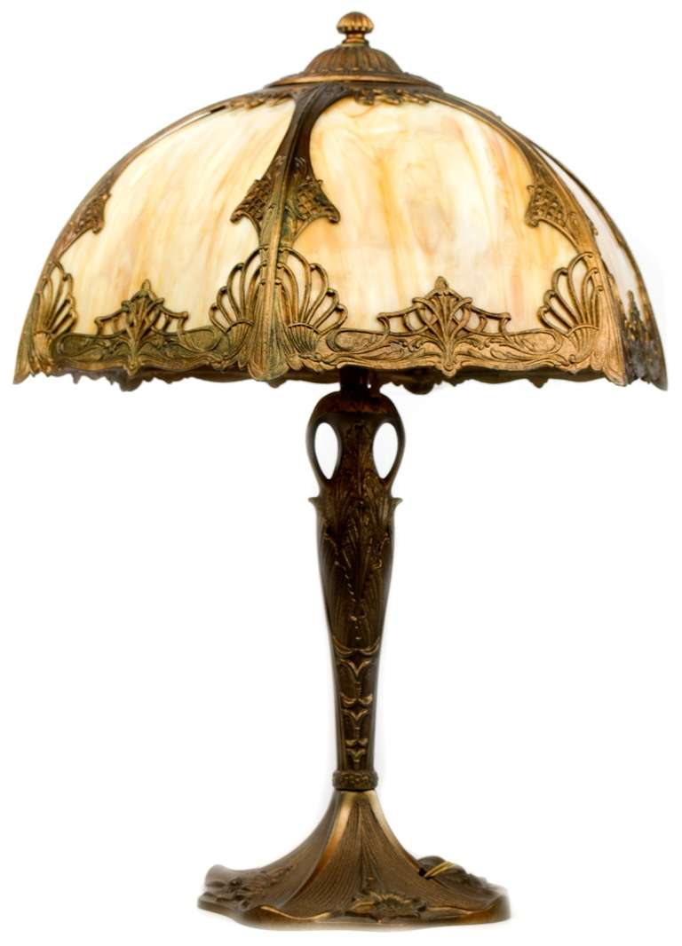 This american art nouveau table lamp is no longer available - American Art Nouveau Bronze Table Lamp 3