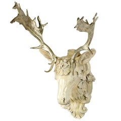 18K Gilt Fallow Deer Head