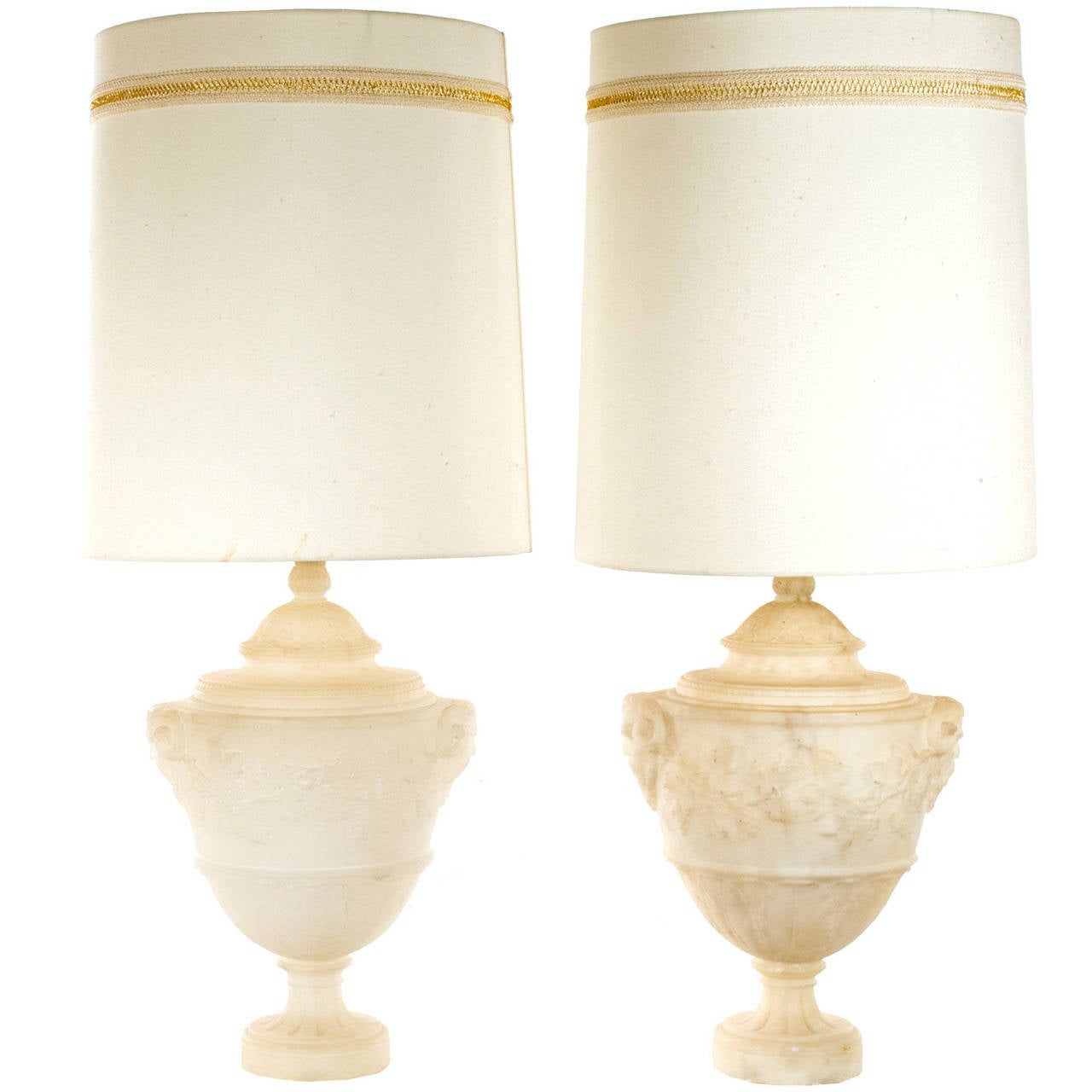 Pair of midcentury carved italian alabaster table lamps at 1stdibs pair of midcentury carved italian alabaster table lamps for sale mozeypictures Choice Image