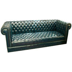 English Chesterfield Tufted Leather Sofa