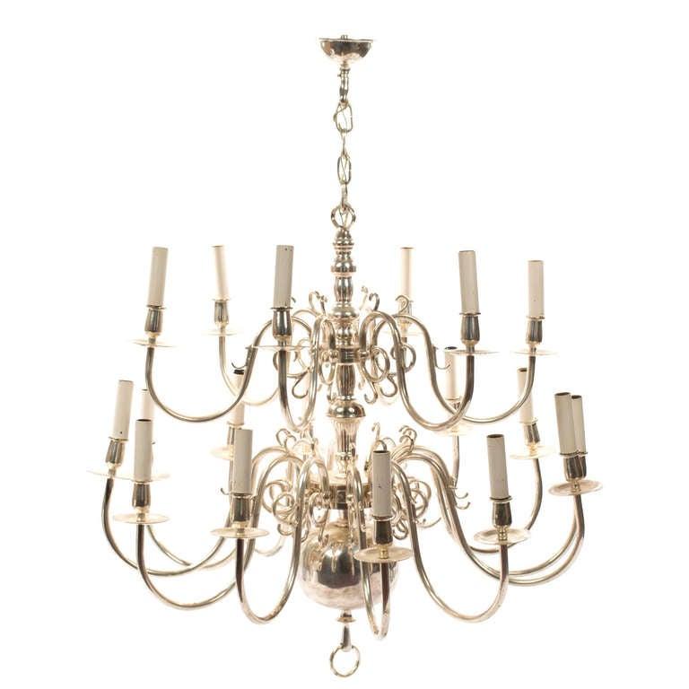 A George III style eighteen light chandelier
