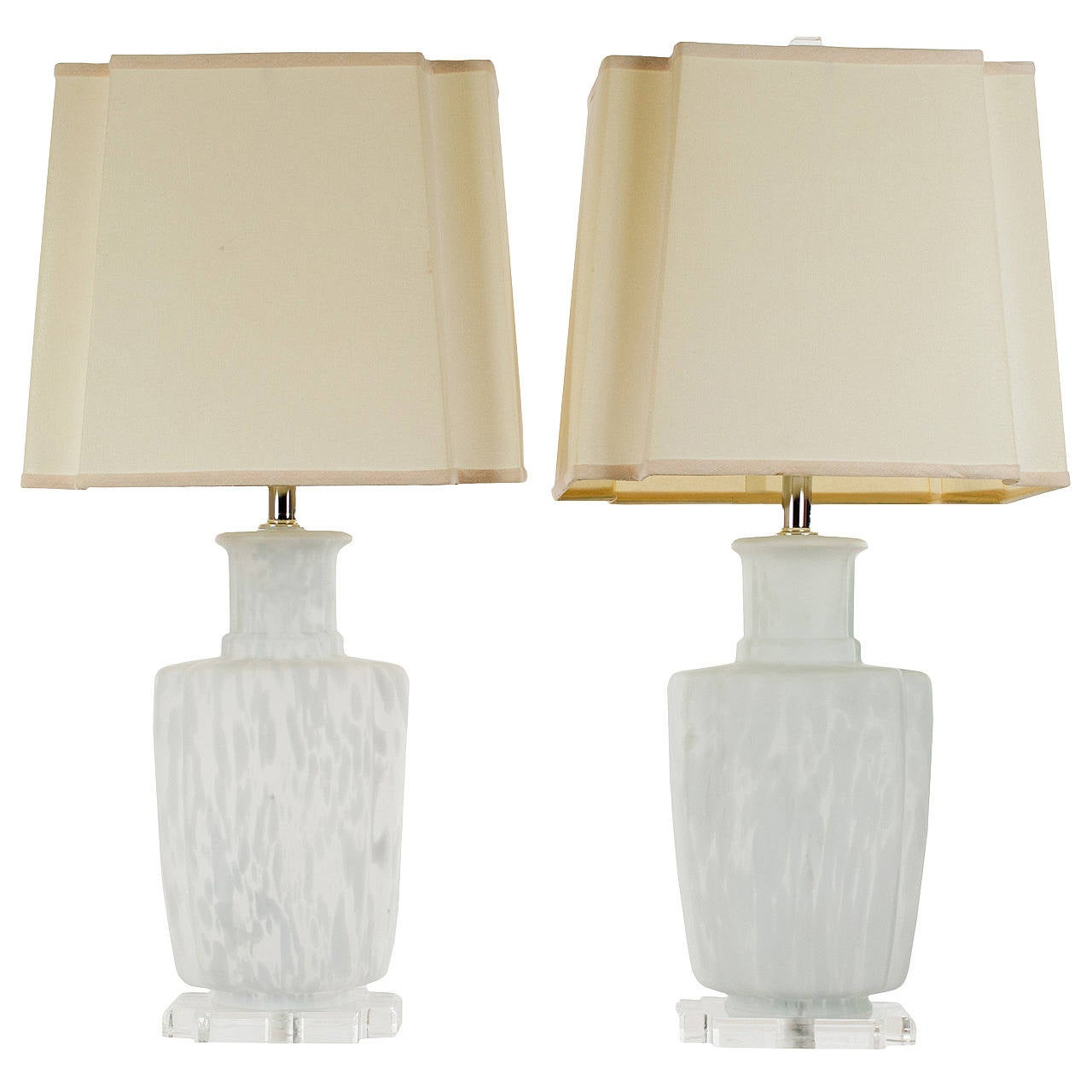 Pair of Murano Blown Glass Table Lamps