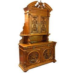 Monumental French St. Hubert Deux Corps Cabinet