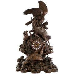 Monumental Black Forest Mantel Clock