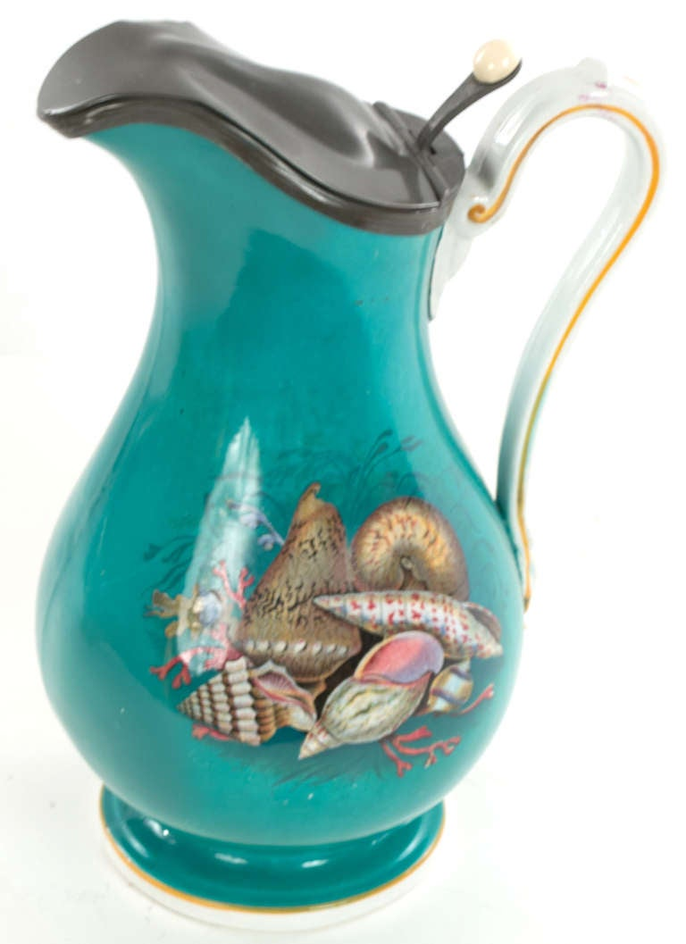 Very Fine Ocean Themed Water Pitcher And Basin At 1stdibs