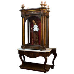 A Monumental Portuguese Cabinet For Saint With The Crest Of The Royal Family