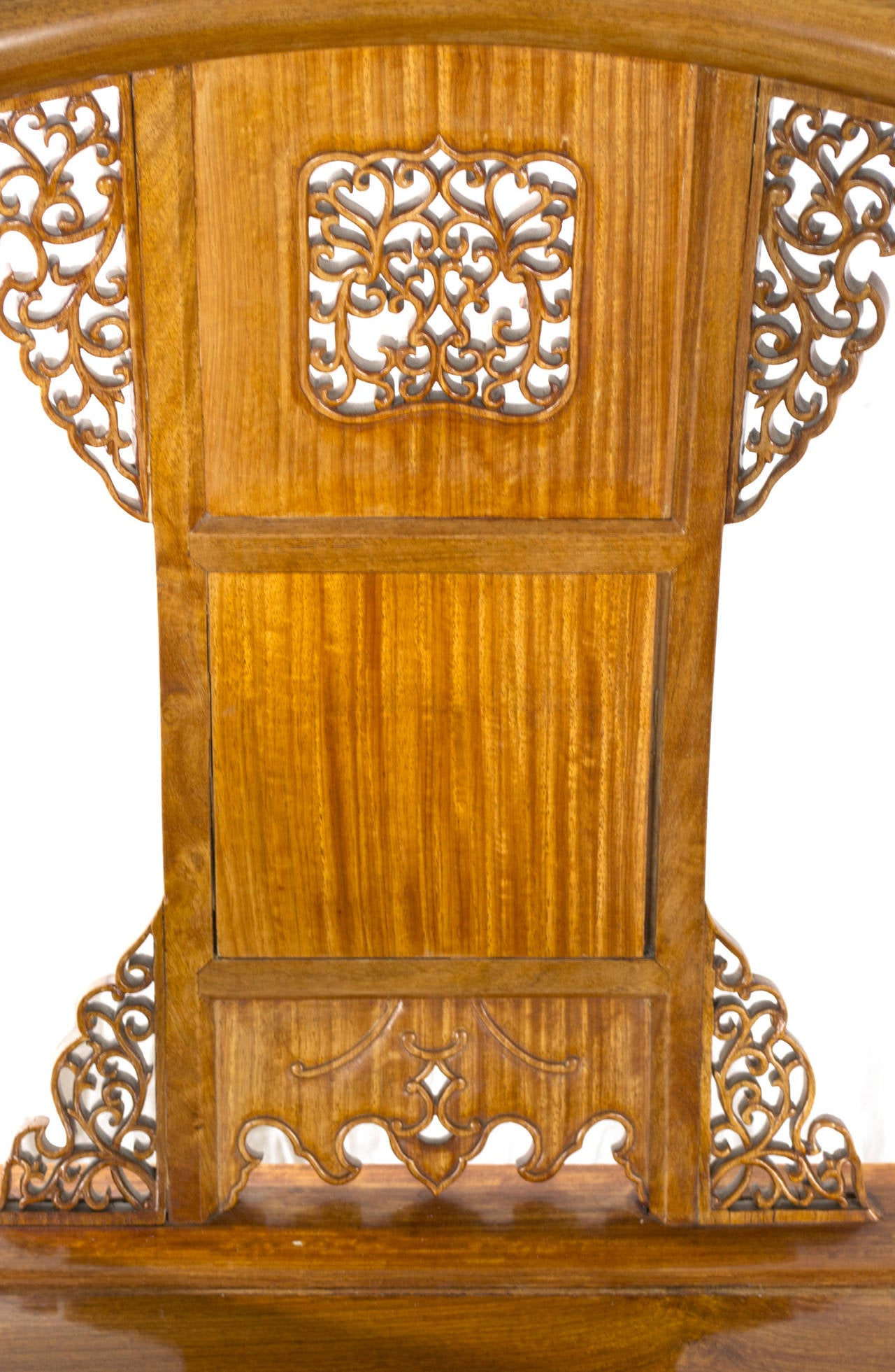 Chinese Carved Huanghuali Wood Armchair At 1stdibs