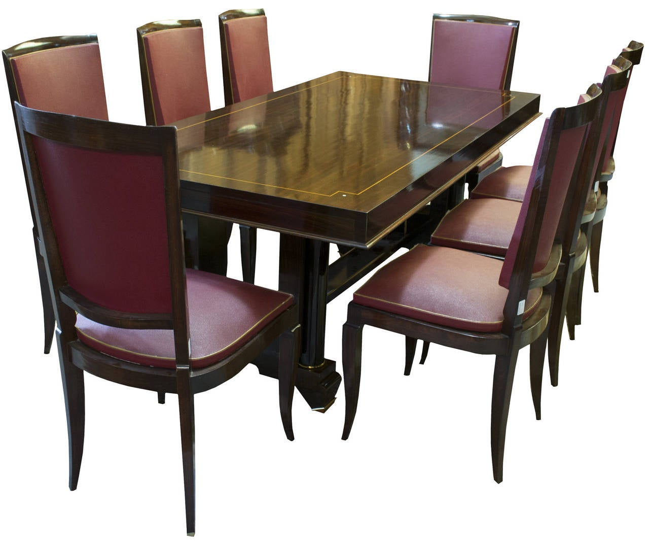 French art deco jules leleu style dining room suite for for Dining room art for sale
