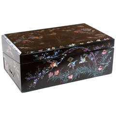 Anese Lacquer And Mother Of Pearl Lap Desk