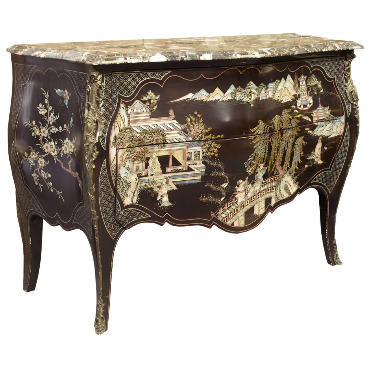 A French Louis Xv Style Coromandel Commode At 1stdibs