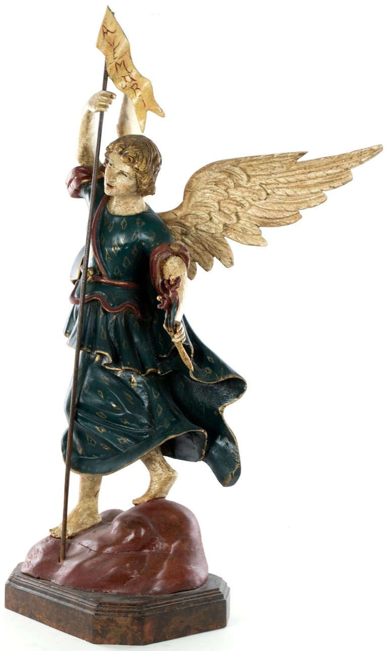 Pair of large statues of angels on stands for sale at 1stdibs - Angels figurines for sale ...