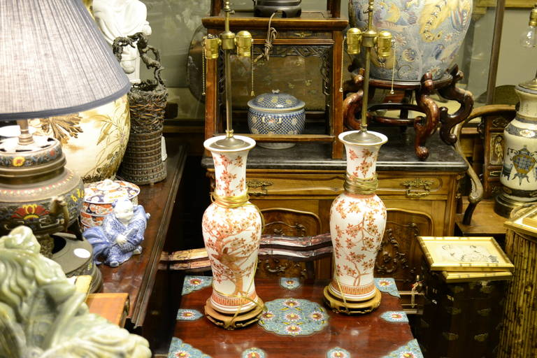 Pair of Large Lamped Baluster Vases For Sale 1