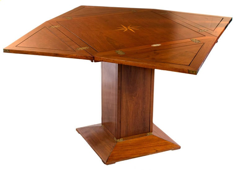 Attractive Folding French Yacht Game Table 2