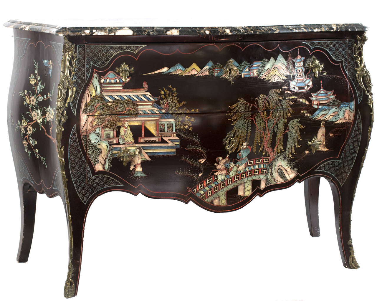 a french louis xv style coromandel commode at 1stdibs. Black Bedroom Furniture Sets. Home Design Ideas