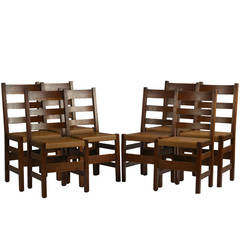 Set of Eight Stickley Arts & Crafts Chairs