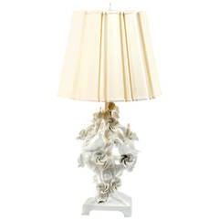 Mid-Century Italian Blonde en Chine Porcelain Table Lamp