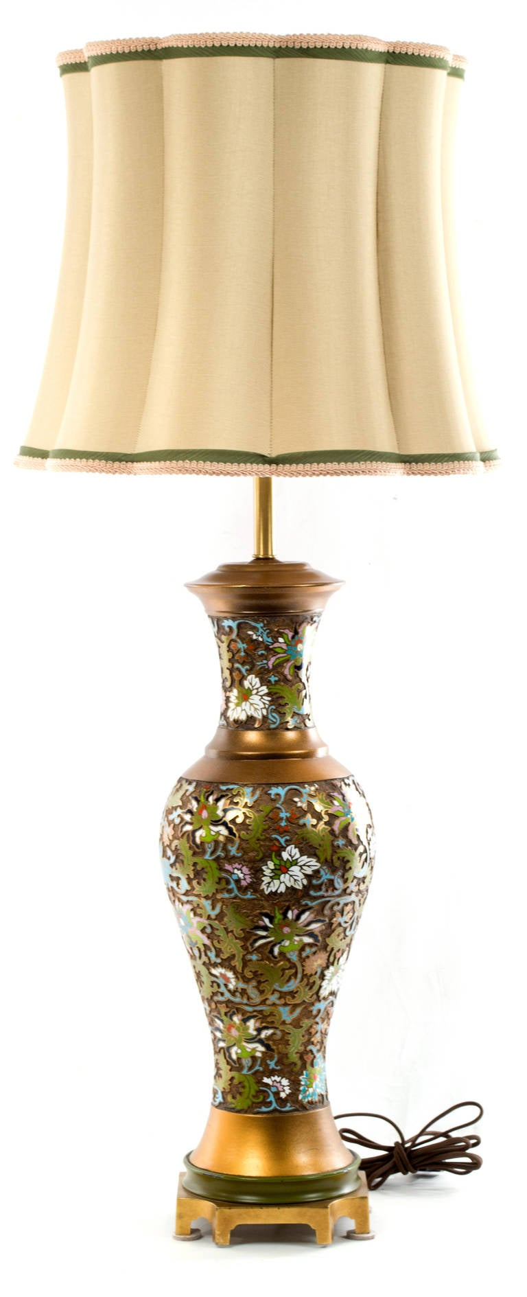 Mid-Century Chinese Cloisonné Table Lamp 4
