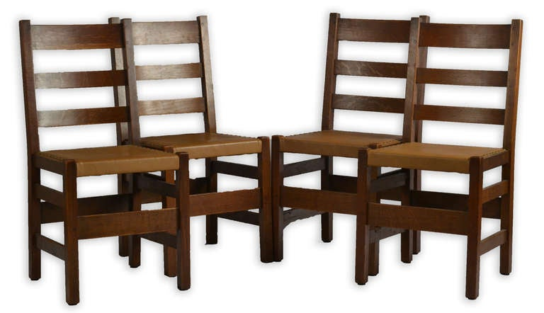 Stickley arts and crafts chairs at 1stdibs - Arts and crafts dining room furniture ...