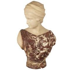 Bust of a Maiden by Guglielmo Pugi