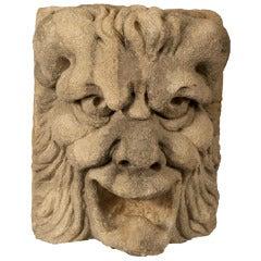 16th Century Carved Stone Gargoyle