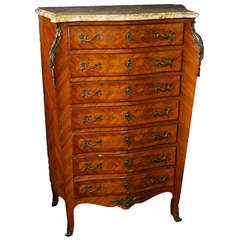 French Parquetry Louis XV Style Semainier