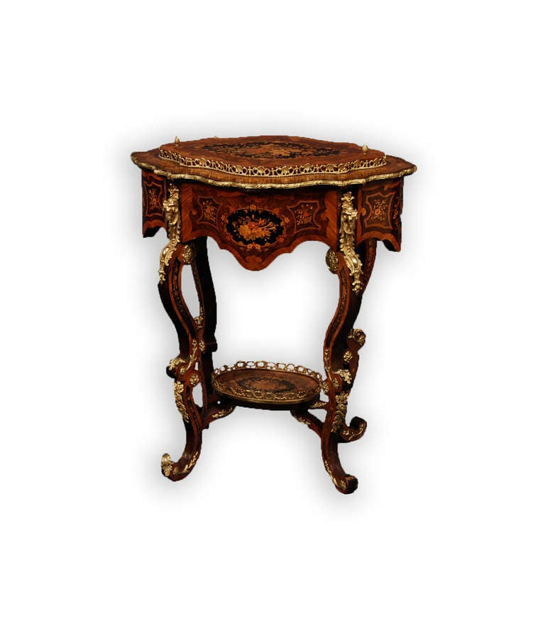 French Louis Xv Style N Cessaires Ormolu Table At 1stdibs