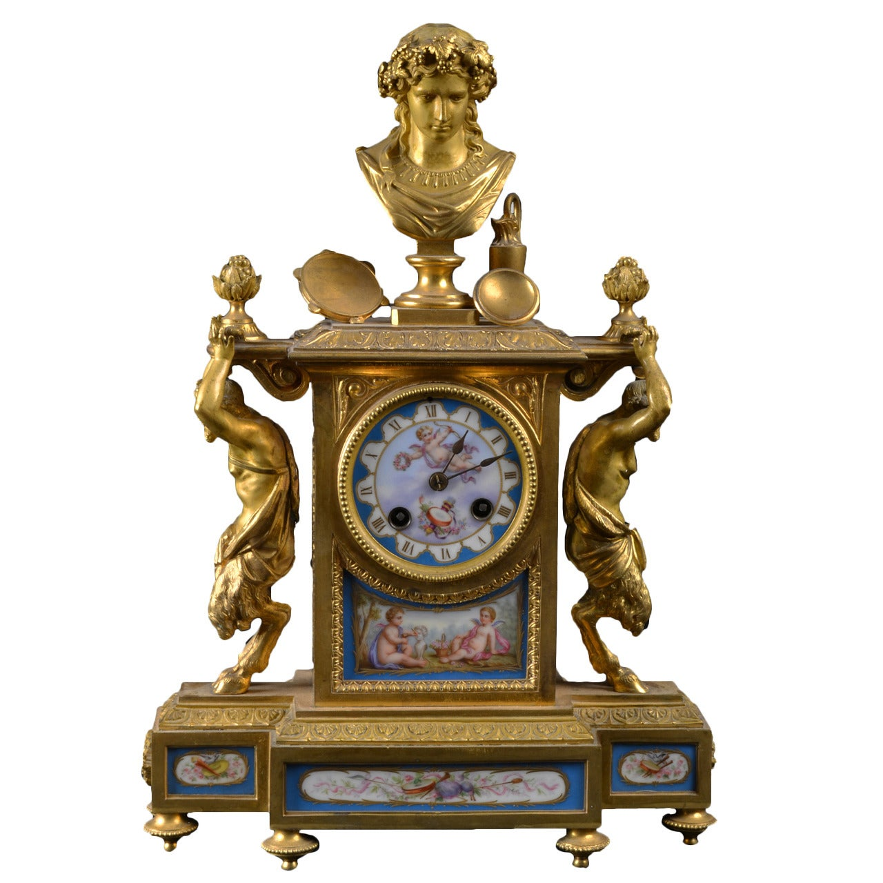 Sevres Porcelain Mantel Clock
