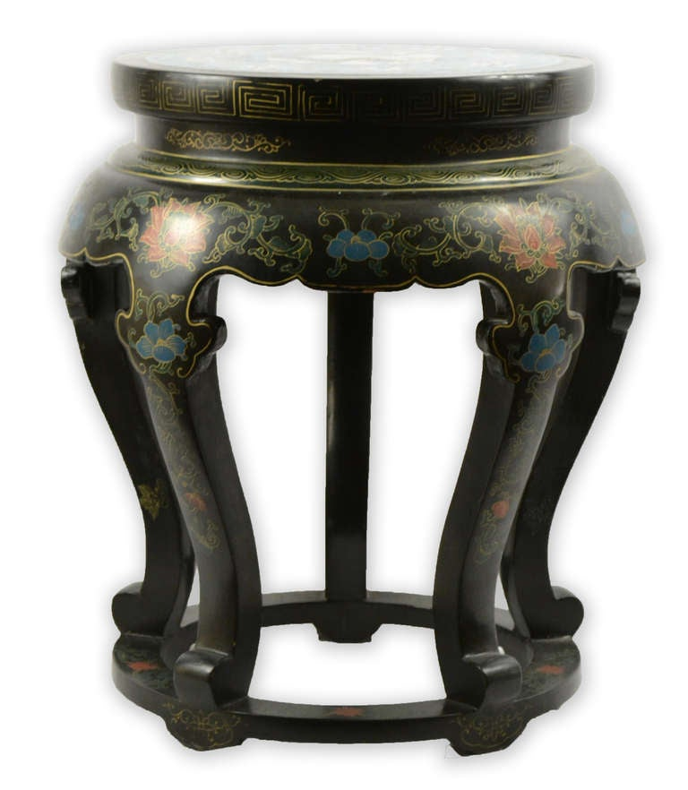 Five leg crane cloisonn table or seat at 1stdibs for 108 table seats how many