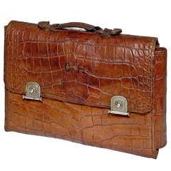 Crocodile Skin Gentleman's Travelling Toiletry Bag