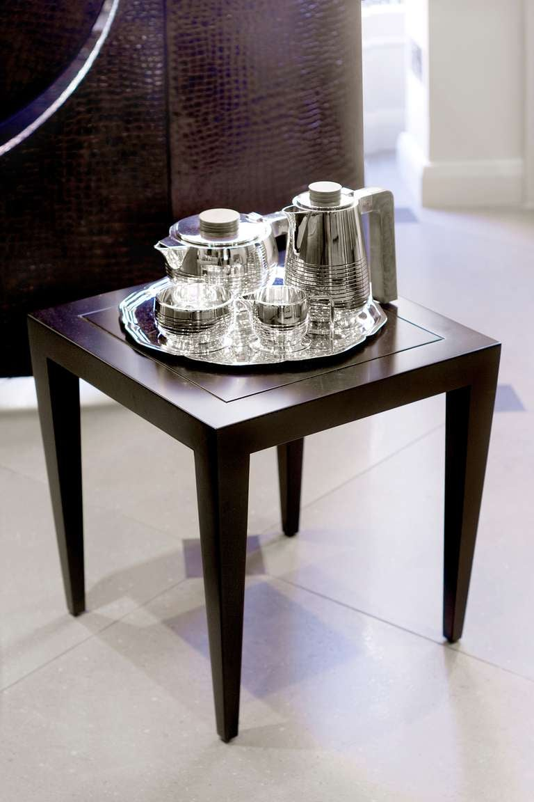Art Deco Silver Plate Tea Set and Tray 2