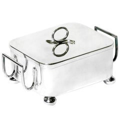 Silver Plate Square Butter Dish