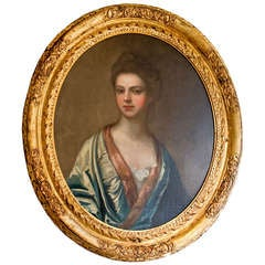 Portrait of an Elegant Lady by Thomas Gibson