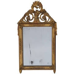 French Empire Giltwood Frame Mirror, circa 1810