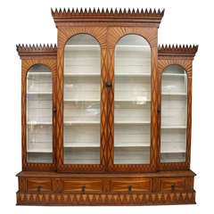 Exceptional Parquetry Cabinet of Large Size, Signed