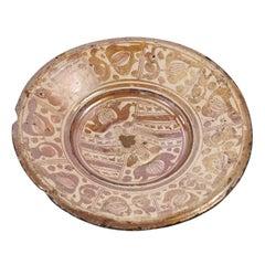 Hispano-Moresque Copper-Lustre Charger, circa 1550