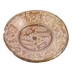 Hispano-Moresque Copper-Lustre Charger, circa 1550